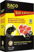 Difenacoum Rat & Mouse Killer Paste Bait Sachets 72 X 10g