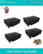 Professional Rat Bait Box Stations X 4 For Rat And Mouse Grain Bait & Blocks