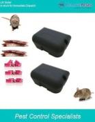 2 Ready Baited Rat Bait Boxes Package-15 Blocks & 400g Grain Poison Sachets
