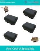 4 Heavy Duty Rat Bait Poison Stations, Safe Secure And Lockable