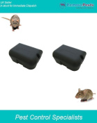 2 Heavy Duty Rat Bait Poison Stations, Safe Secure And Lockable