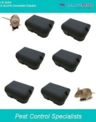 6 Heavy Duty Rat Bait Poison Stations, Safe Secure And Lockable