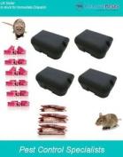 4 Ready Baited Rat Bait Boxes Package-30 Blocks & 10 X 100g Grain Poison Sachets
