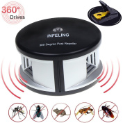 Infeling 360 Degree Ultrasonic Pest Repeller, Changing Frequency Waves, Wide For