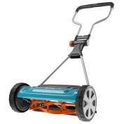 """Gardena 10220cm - 50cm comfort - 400 C"""" Hand Cylinder Lawnmower - Blue/grey/oran"""