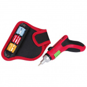 Hyper Tough 24-in-1 Auto-Loading Ratchet Screwdriver with Pouch, Red/Black