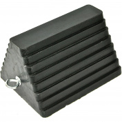 MaxxHaul Solid Rubber Wheel Chock with Eyebolt