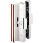 Prime Line C1116 White Sliding Glass Door Handle with Clamp Type Latch