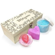 Personalised Love Hearts Pattern Wooden Spa Kit Box Collection 2
