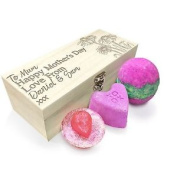 Personalised Mother's Day Daisies Wooden Spa Kit Box Collection 1