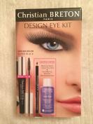 Christian Breton Design Eye Kit Super Black Mascara, Black Pencil And Remover