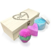 Mum Flower Heart Wooden Spa Kit Box Collection 4
