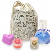 Personalised Treat And Pamper Doodles Mini Spa In A Bag Collection 2