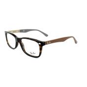 Ray-ban Glasses Frames 5228 5545 Havana & Brown On Beige Grey