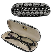 Eqlef® Black Hard Eyeglass Case Spectacles Box With Cute Elephant Printing