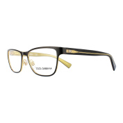 Dolce And Gabbana Glasses Frames 1273 1268 Top Black On Gold Womens 53mm