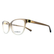 Emporio Armani Glasses Frames 3077 5458 Brown To Crystal Womens 52mm
