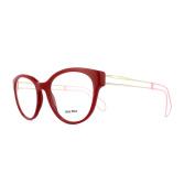 Miu Miu Glasses Frames 03pv Usl1o1 Red Womens 52mm