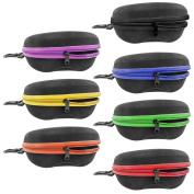 Innolife Men's Set Of 7pcs In Mixed Colours, Zipper Shell Sunglasses Glasses Case