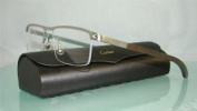R De Cartier T8100916 Titanium & Dark Wood Half Rim Eyeglasses Frames Size 54