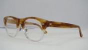 New Gucci Gg 1089 Y5u Striped Caramel Crystal Frames Glasses Eyeglasses Size 50
