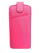Soft Quality Leather Glasses Case Pink