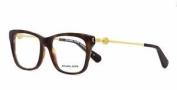 Michael Kors Abela Iv Mk8022 3135 Dark Tortoise Brille Frames Eyeglasses Size 52