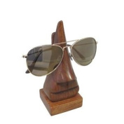 Wooden Nose Shape Glasses Holder Stand Display Spectacles Sheesham Wood Indian
