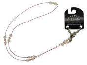 Ladies Beaded Pink Valentine Wire Spectacle Chain With Traditional Fasten