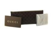 Gucci Pyramid Glasses / Sunglasses Case Small / Medium Brown Faux Leather Grey