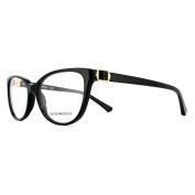 Emporio Armani Glasses Frames 3077 5017 Black Womens 54mm