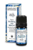 Simplers Botanicals Blissful And Bright Organic Essential Oil Blend 5ml Bergamot