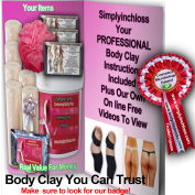 1ltr & 6 Contouring Bandages Kit Bums/tums Body Wrap Clay/inch Loss/toning£24