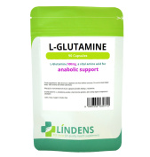 L-glutamine 500mg X 90 Capsules; Vital Amino Acid For Anabolic Support; Lindens