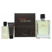 Hermes Terre D'hermes Set 100ml Eau De Toillette 40ml Shower Gel + 15ml Aftershave Bal