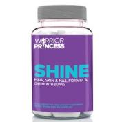 Warrior Princess Shine 60 Caps - Healthy Hair Skin And Nails Vitamin Supplement
