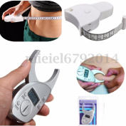Digital Body Fat Callipers & Tape Measure Diet Fitness Health Weight Loss Tester