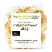 Organic Crystallised Ginger 250g
