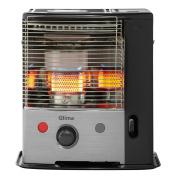 B#qlima Cordless Portable Paraffin Heater Heating Silver And Black Patio R 8128c