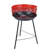 Portable Round Barbecue Bbq Charcoal Grill Adjustable Cooking Grill Camping