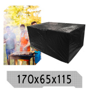 Outdoor Barbecue Storage Cover 170x65x115 Waterproof Garden Bbq Cover Protector