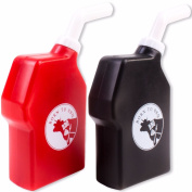 2 X Sauce Bottle Set Ketchup Red Brown Relish Barbeque Bbq Squeeze Dispenser