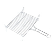 Rayen Aa96 Stainless Steel Bbq Grill Rack, Chrome/grey, Grey, 45x55x5 Cm