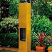 Gardenmaxx Amayo Outdoor Fireplace In Corten Steel Double Wall Durable New