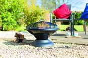 La Hacienda 58186 Enamelled Moda Firepit - Black