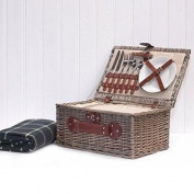 Luxury 2 Person Chiller Picnic Hamper Basket With Accessories And Picnic