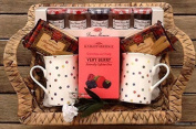 Deluxe Knightsbridge Very Berry Tea - Shortbread & French Jams Hamper - Perfect