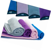Quick Dry Sports + Travel Towel - Lightweight - Highly Absorbent - Compact - Sof