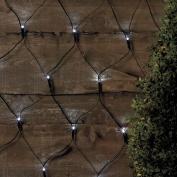 Vinsani 105 Led Solar Powered Cool White Net Lights Outdoor Garden Fairy String