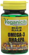 Veganicity Omega-3 Dha:epa 500mg - Algal Oil Vegan Omega-3 Fatty Acid : Heart :